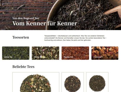Online-Shop für Tee-Liebhaber